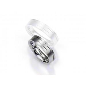 Alliance BREUNING Argent & Diamant 5,5mm