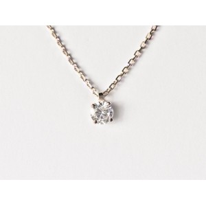 Pendentif Diamant 0,20 Carat G SI 4 griffes Or blanc