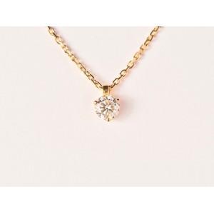 Pendentif Diamant 0,25 Carat G SI 3 griffes Or jaune