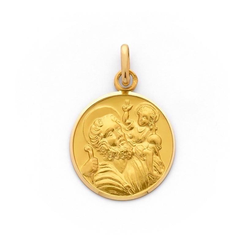 Médaille Saint Christophe 20mm Or jaune