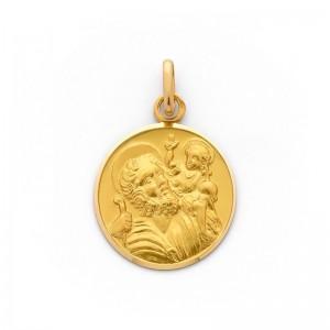 Médaille Saint Christophe 18mm Or Jaune 9 Carats