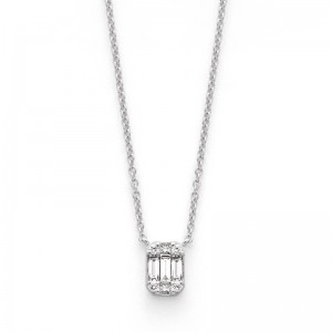 Pendentif Diamants 0,27 Carat H VS2 Or blanc