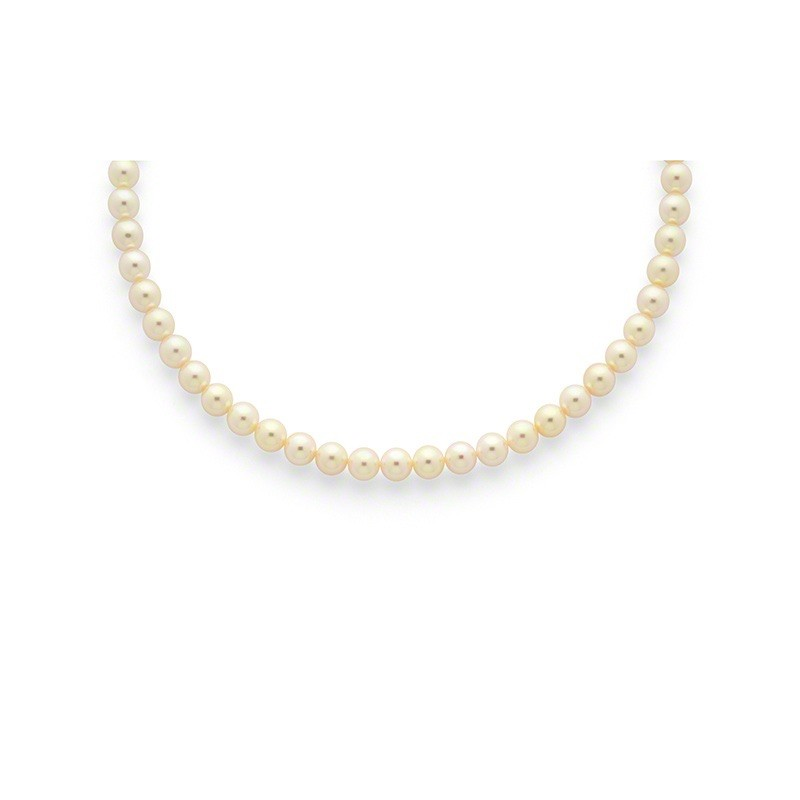 Collier Perles de culture Choker Akoya Japon 6,5-7 mm