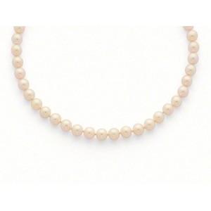 Collier Perles de culture Choker Akoya Japon 7 -7,5mm Or jaune-1