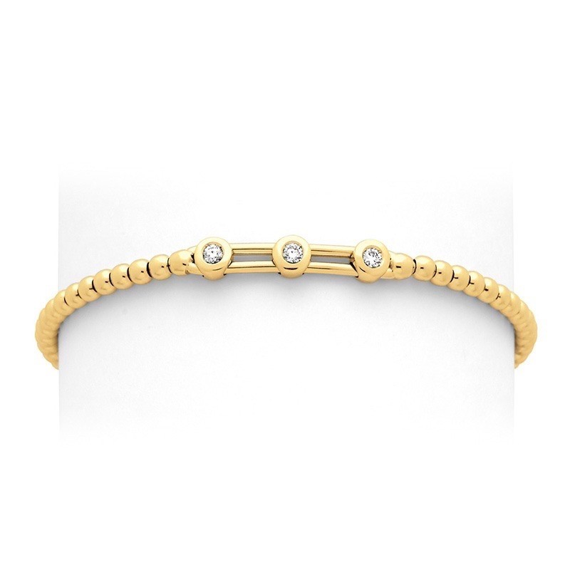 Bracelet joaillerie Diamants 0,05 Carat H SI Or jaune