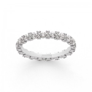 Alliance Diamants tour complet Or pavage 1,08 Carat Or blanc