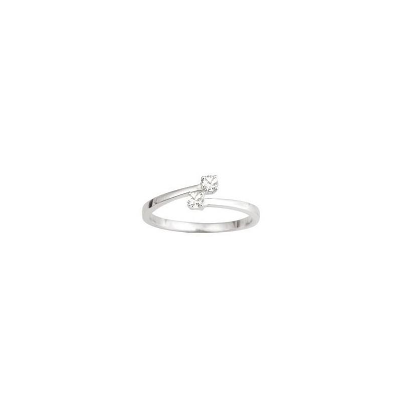 Bague Toi & Moi Diamants 0,14 Carat G P1 Or blanc