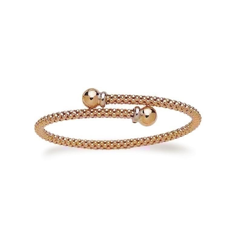 Bracelet rigide résille 4mm Or jaune