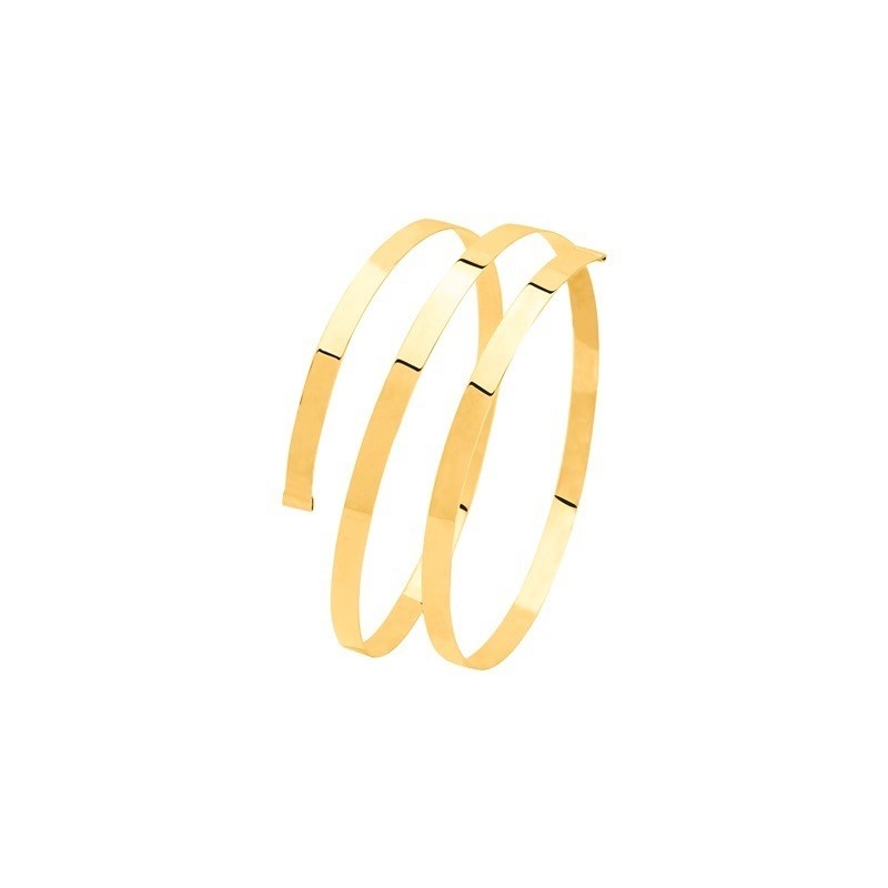 Bracelet rigide Jonc torsade Or jaune