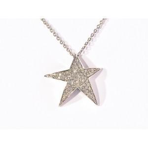 Pendentif Diamants 0,26 Carat étoile Or blanc