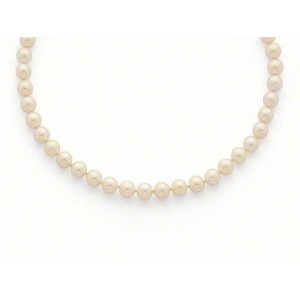 Collier Perles de culture Choker Akoya Japon 8 -8,5mm-4
