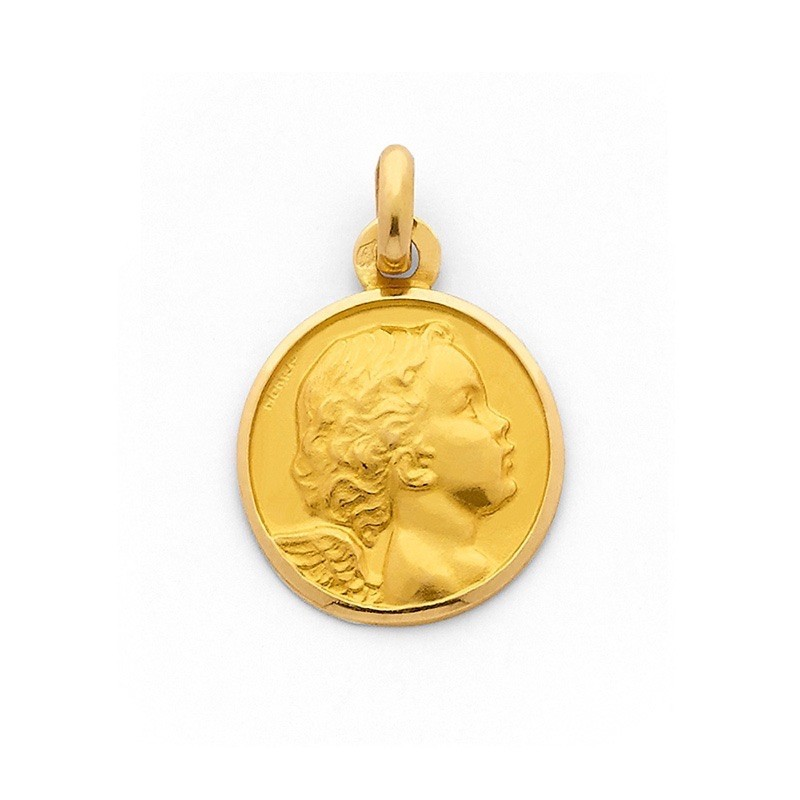 Médaille Ange 18mm Or jaune