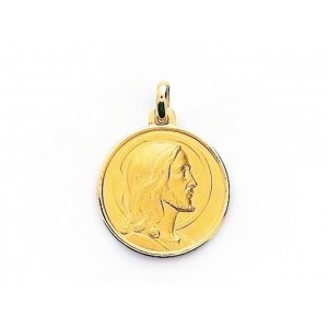 Medaille Christ 19mm Or jaune