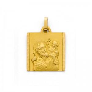 Médaille Saint Christophe 17mm Or jaune