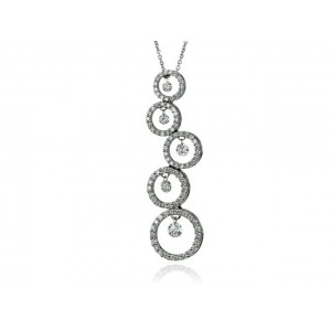 "Pendentif Diamants 1,20 Carats H SI ""Bulles en Diamants"" Or blanc"