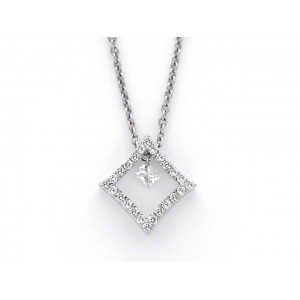 "Pendentif Diamants 0,28 Carat H SI ""Princess"" Or blanc"