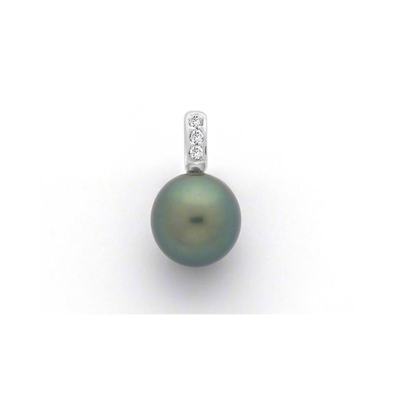 Pendentif Perle de culture de Tahiti ronde 10,4mm