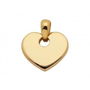 Pendentif cœur 20x19x3,5mm Or jaune
