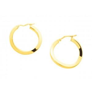 Boucles d'oreilles fil carre twist système Vector Or jaune