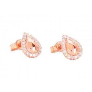 Boucles d'oreilles Diamants 0,14 Carat Or rose
