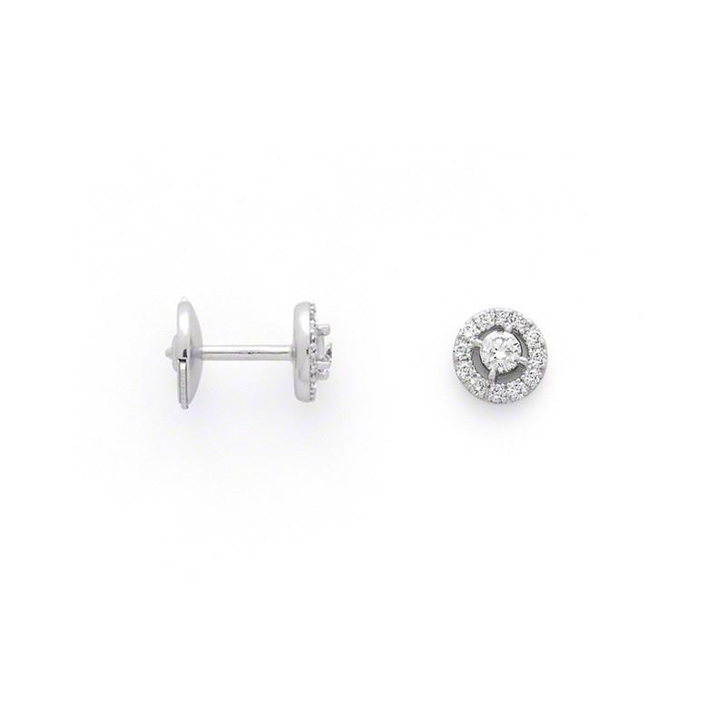 Boucles d'oreilles Diamants 0,44 Carat H SI Or blanc