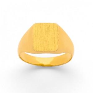 Chevalière Dame carrée massive Or jaune