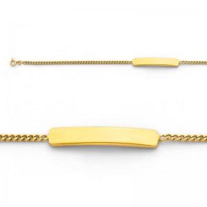 Bracelet identité bébé classic gourmette GL45 Or jaune