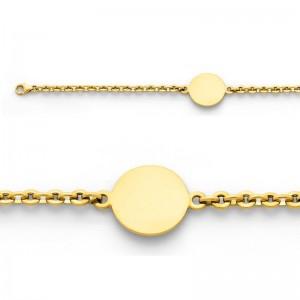 Bracelet identité bébé Maille Lentille Or jaune