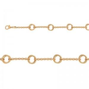 Bracelet mailles 4 doubles cercles Or jaune