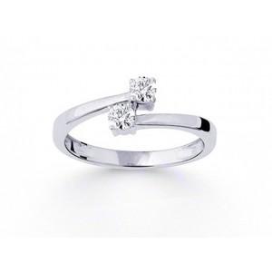 Bague toi et moi Diamants 0,32 Carat G SI Or blanc