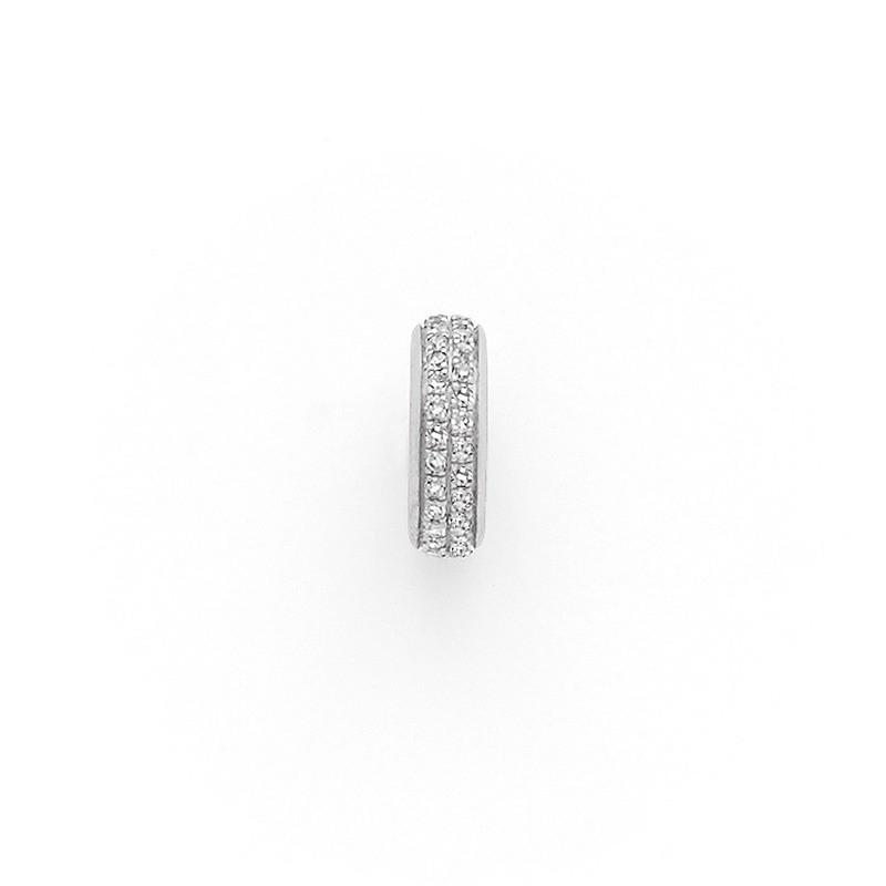 Pendentif Diamants 0,13 Carat anneaux pavage Or blanc