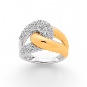 Bague Diamants 0,65 Carat G SI pavage 2 Ors