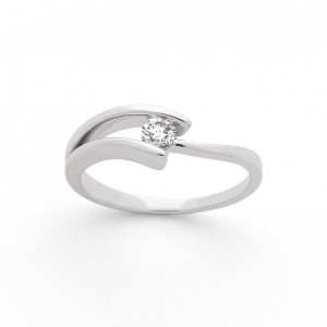 "Solitaire Diamant 0,14 Carat G P1 ""Lilas"" Or blanc"