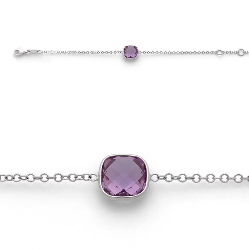 Bracelet joaillerie Améthyste Or blanc