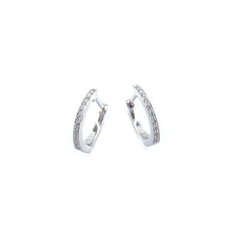 Créoles Diamants 0,06 Carat Or blanc
