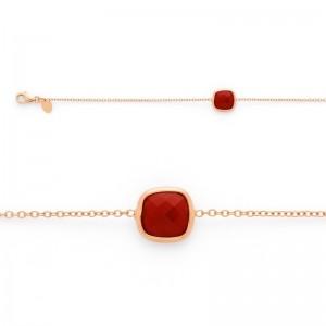 Bracelet joaillerie Cornaline Or rose