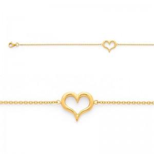 Bracelet avec motif Cœur Or jaune