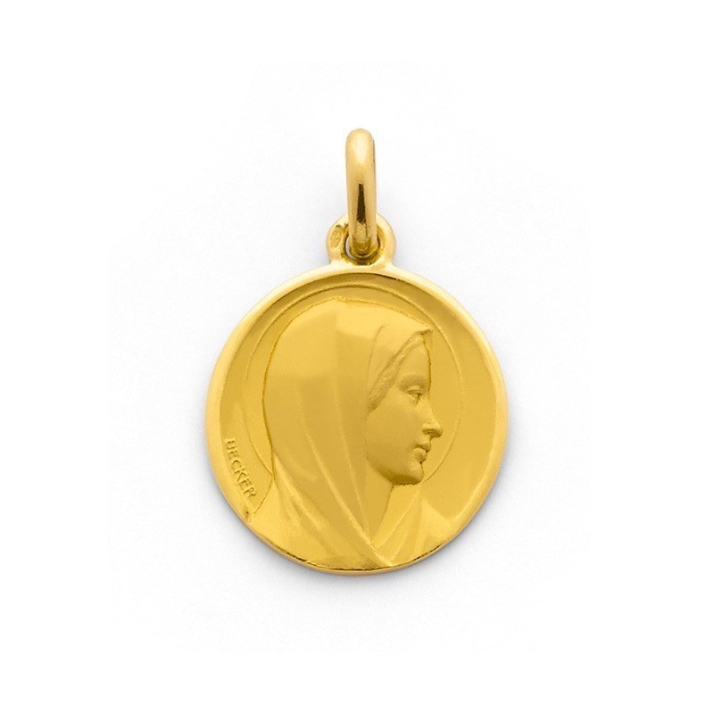 Médaille Becker Vierge 18mm Annonciation Or jaune