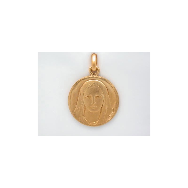 Médaille Becker Vierge douceur 18mm Or jaune