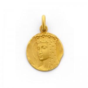 Médaille Becker Vierge aux étoiles 18mm Or jaune