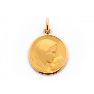Médaille Becker Vierge Le baiser 18mm Or jaune
