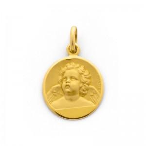 Médaille Becker Ange 18mm Or jaune