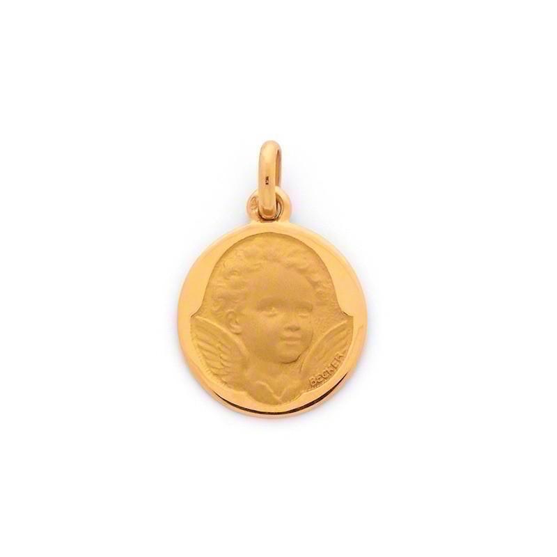 Médaille Becker Ange Espiègle 18mm Or jaune