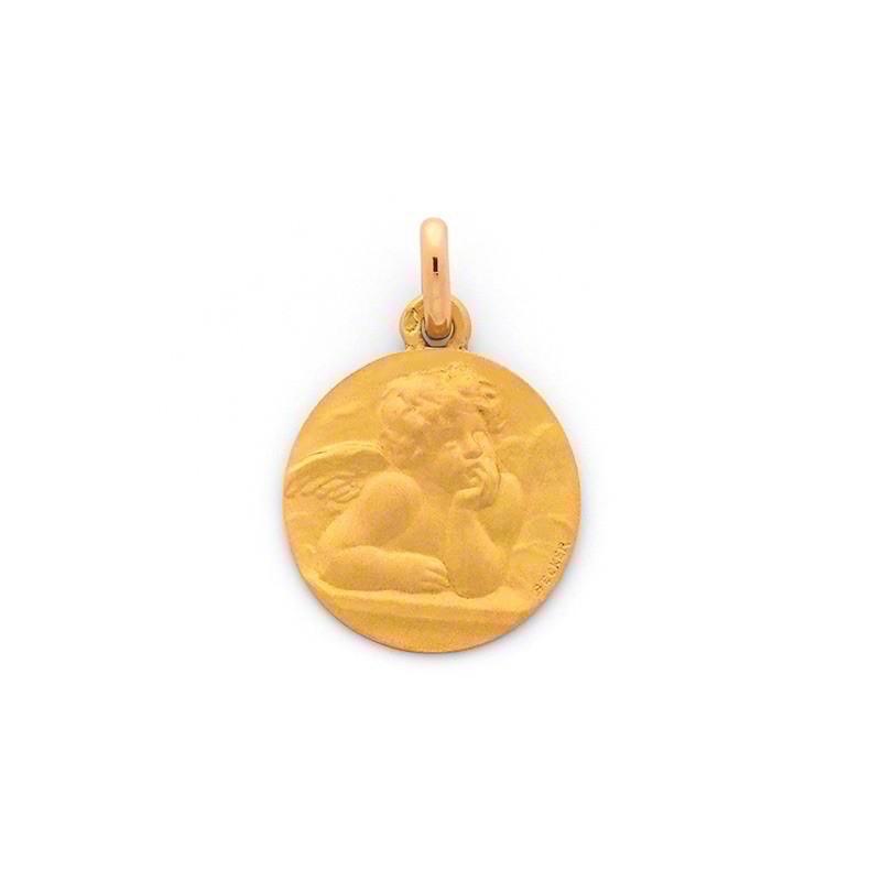 Médaille Becker Ange de Raphaël 18mm Or jaune
