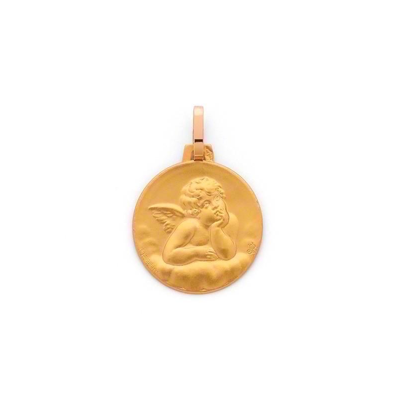 Médaille Ange de Raphaël 16mm Or jaune