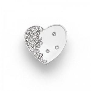 Pendentif Diamants 0,23 Carat G VS cœur Valentin Or blanc