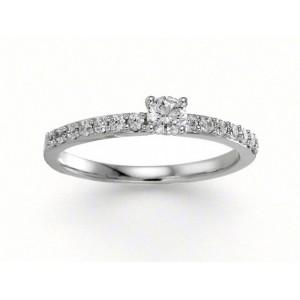 Solitaire Diamant 0,25 Carat G SI2 accompagné 0,21 Carat Or blanc