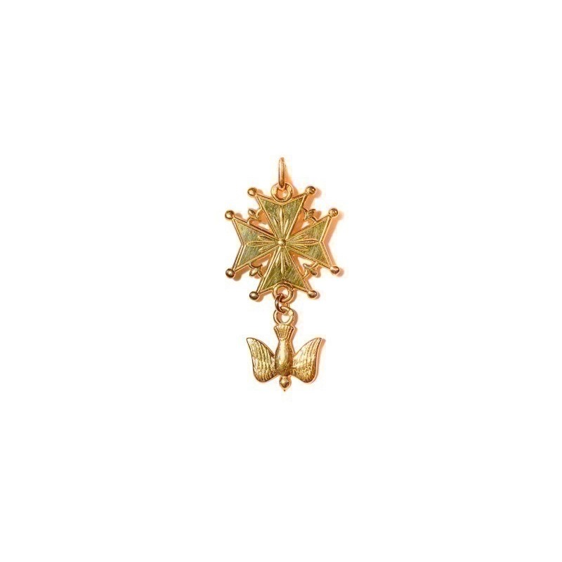 Croix Huguenote 37mm Or jaune