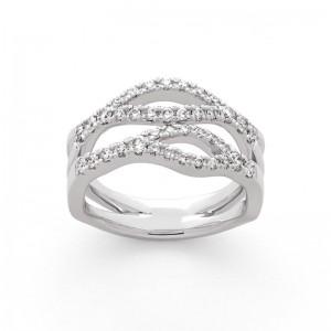 Bague Diamants 0,48 Carat H SI Or blanc