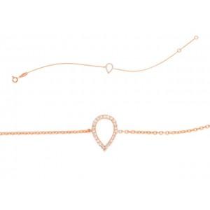 Bracelet joaillerie Diamants 0,07 Carat Or rose